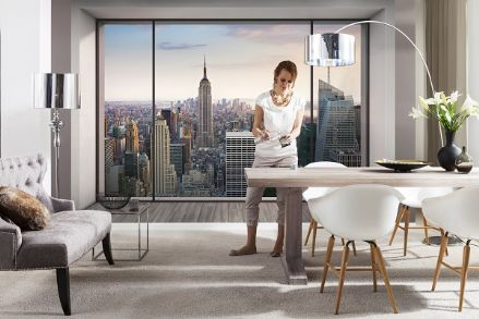 "New York ""Penthouse"" wall mural"